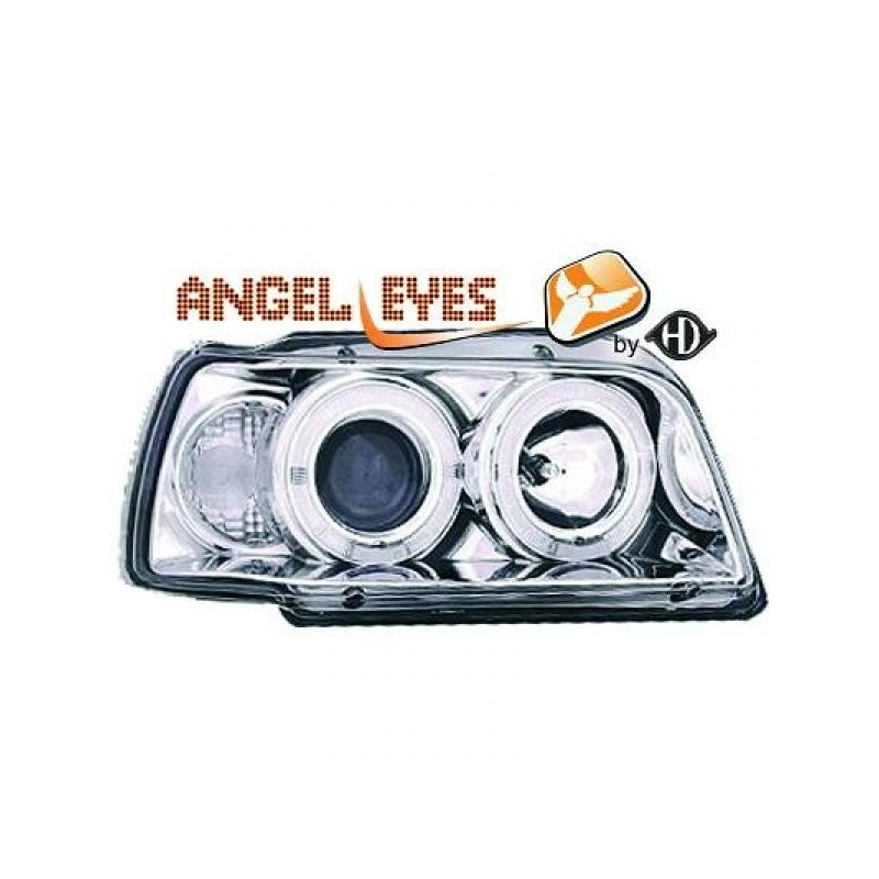 Phares angel eyes chrome Renault CLIO 91-96
