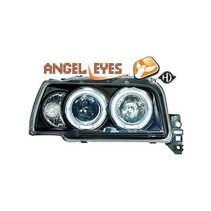 Phares angel eyes noir Renault CLIO 91-96