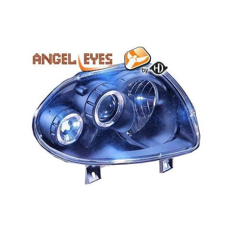 Phares angel eyes noir Renault CLIO 98-01