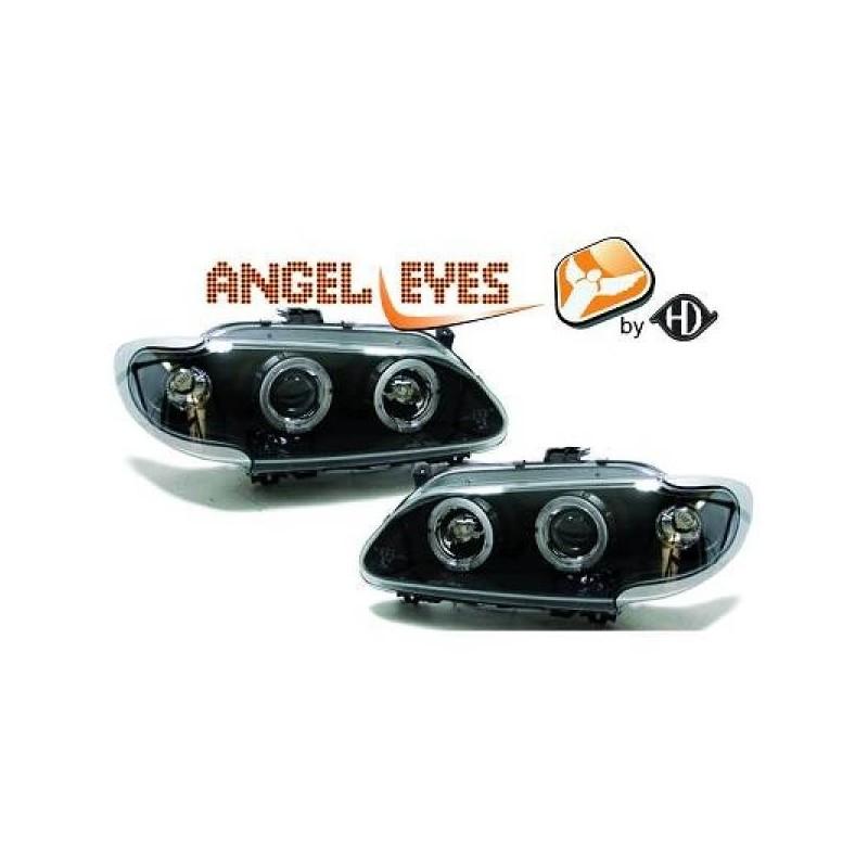 Phares angel eyes noir . Renault MEGANE 96-99