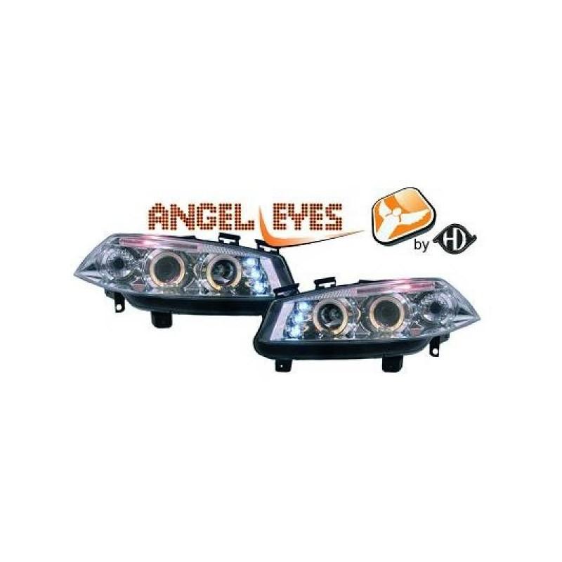 Phares angel eyes chrome Renault MEGANE 02-05
