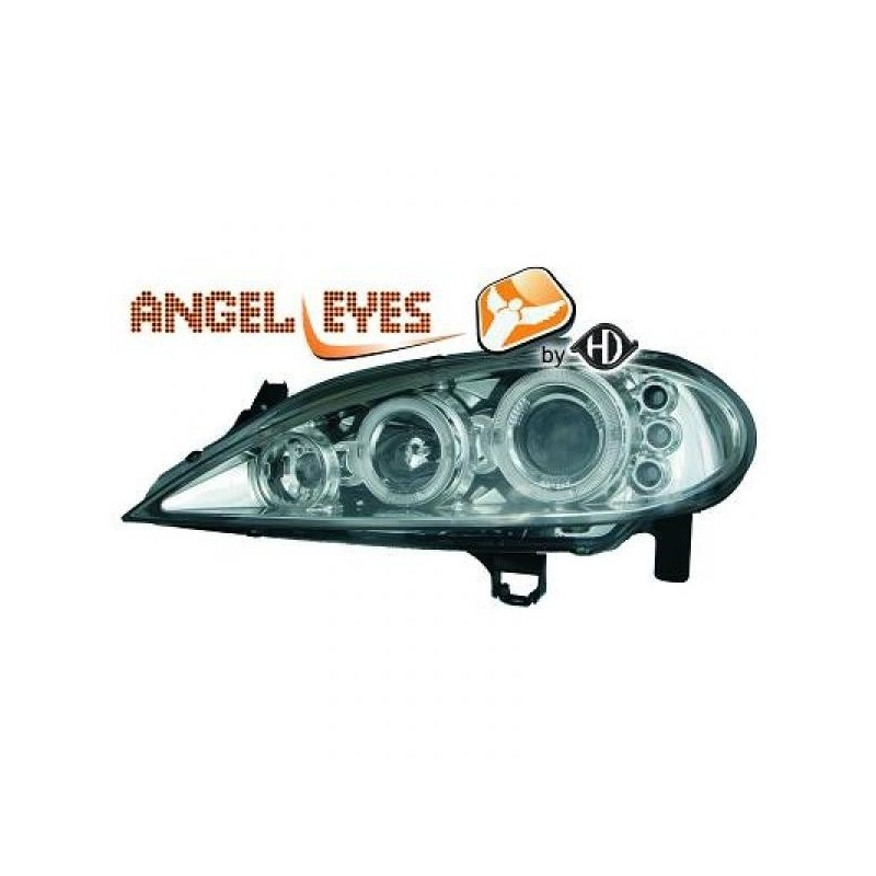 Phares angel eyes chrome . Renault MEGANE 99-02