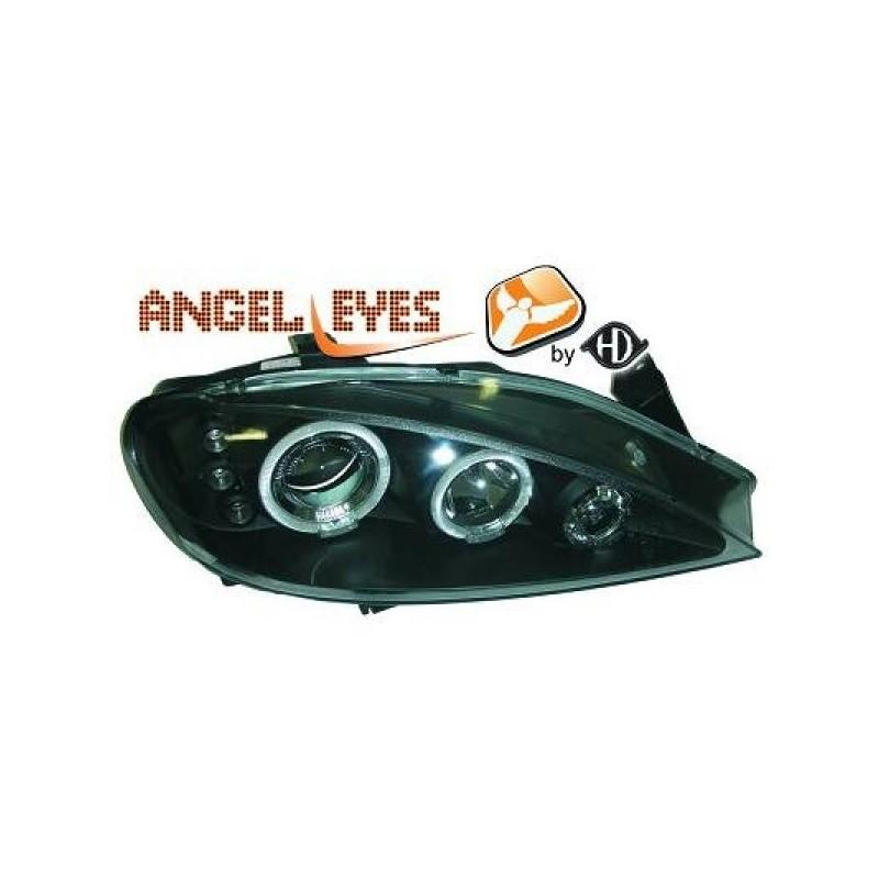 Phares angel eyes noir . Renault MEGANE 99-02