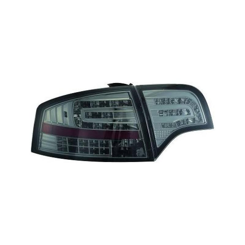 Feux arriere Audi A4 04-07 LED/Berline cristal/fumé