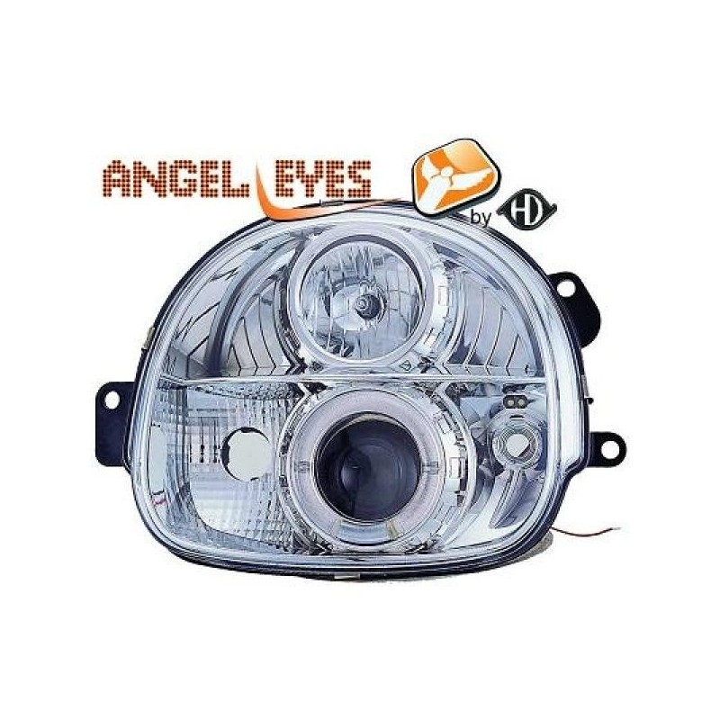 Phares angel eyes chrome Renault TWINGO 93-07