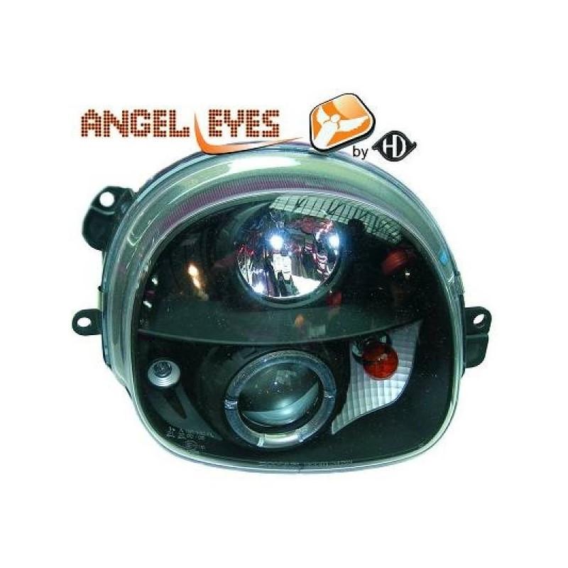 Phares angel eyes noir Renault TWINGO 93-07