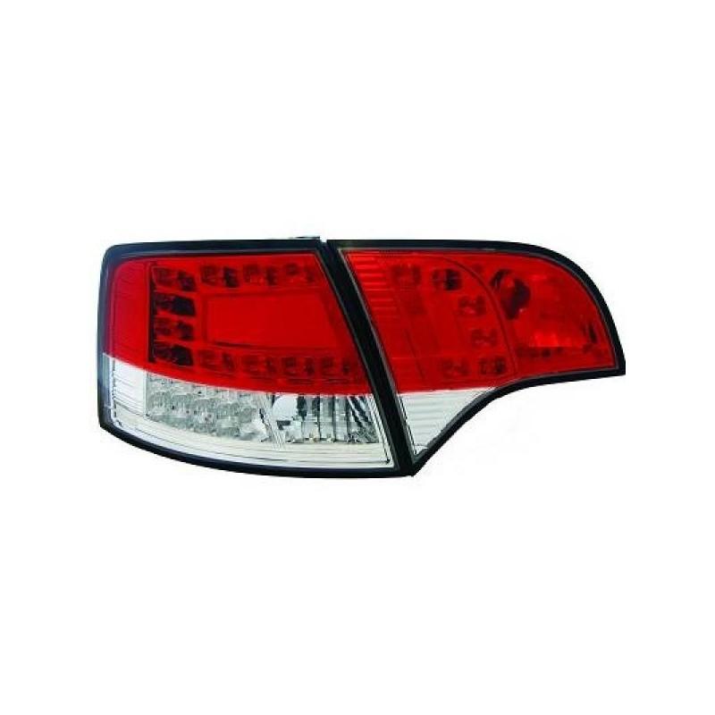Feux arriere Audi A4 05-08 LED/AVANT cristal/rouge/blanc