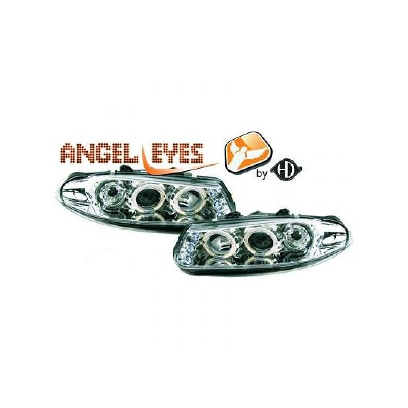 Phares angel eyes chrome Rover 200 95-00