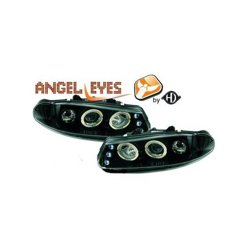 Phares angel eyes noir Rover 200 95-00