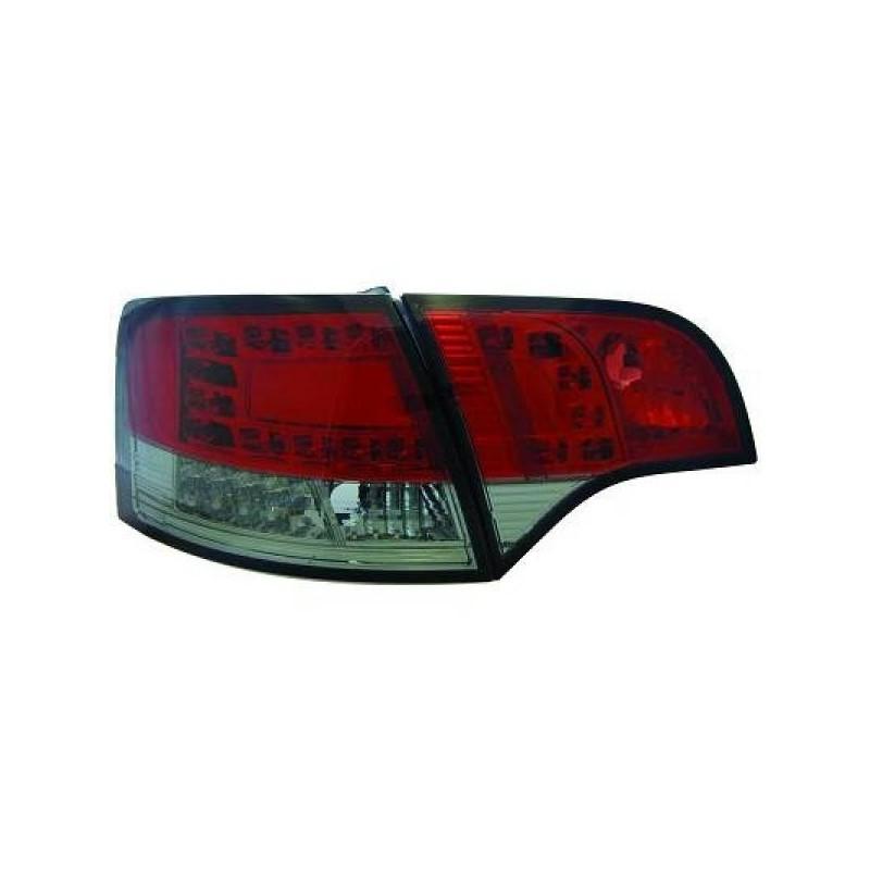 Feux arriere Audi A4 05-08 LED/AVANT cristal/rouge/noir