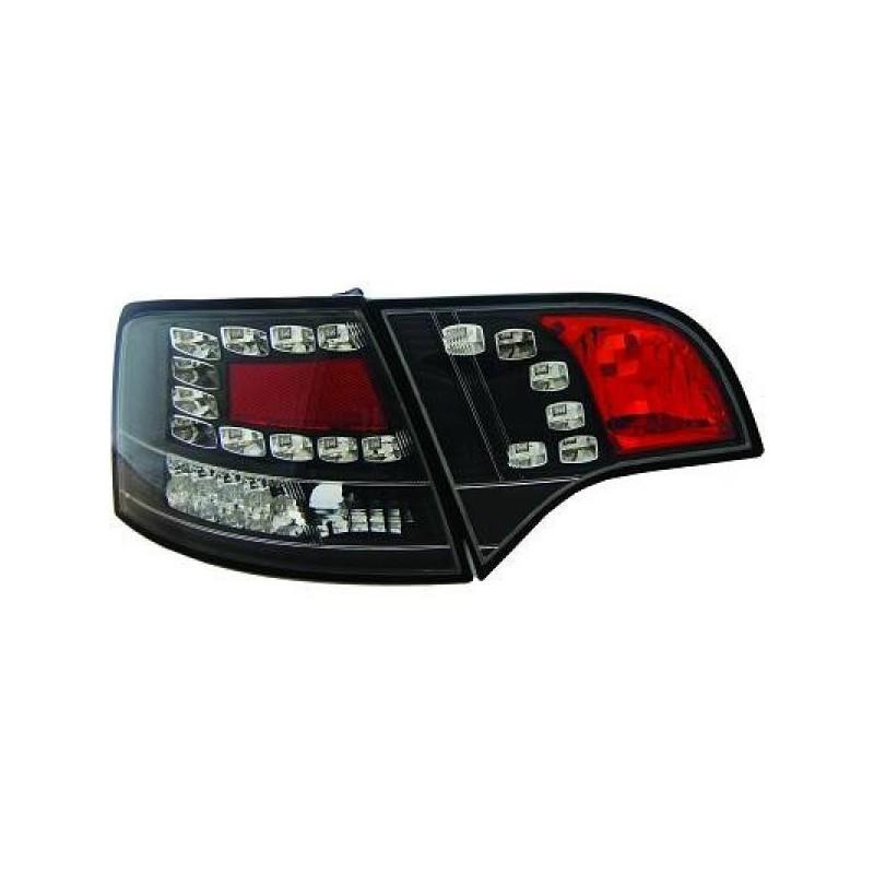 Feux arriere Audi A4 05-08 LED/AVANT noir