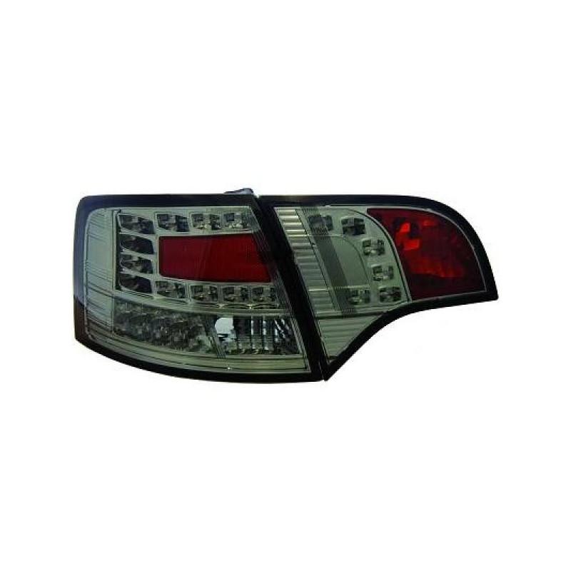 Feux arriere Audi A4 05-08 LED/AVANT cristal/fumé