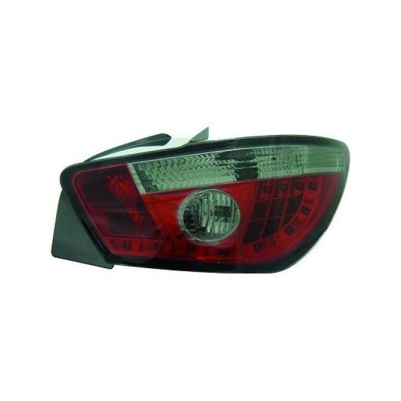Feux arriere Seat IBIZA apres 2008 3-portes LED cristal/rouge/noir