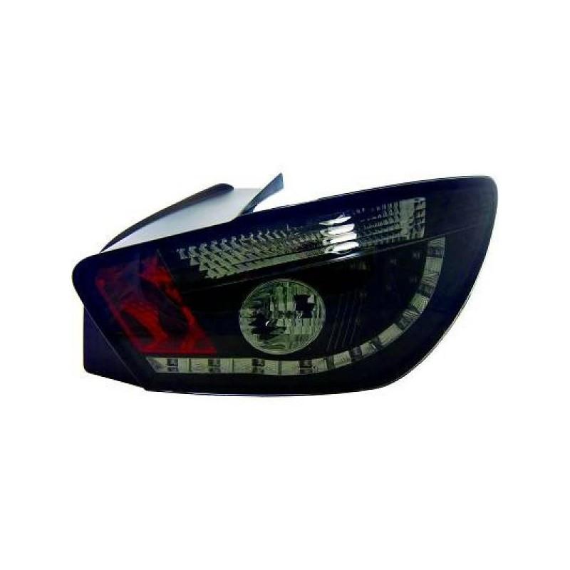 Feux arriere Seat IBIZA apres 2008 3-portes LED noir/fumé
