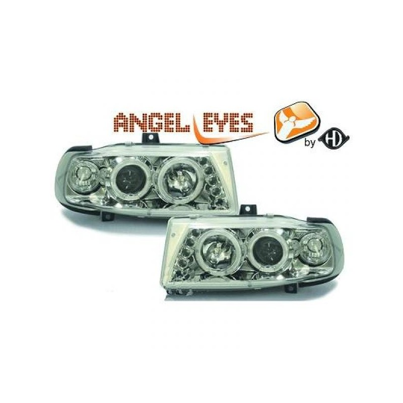 Phares angel eyes chrome . Seat IBIZA 93-99