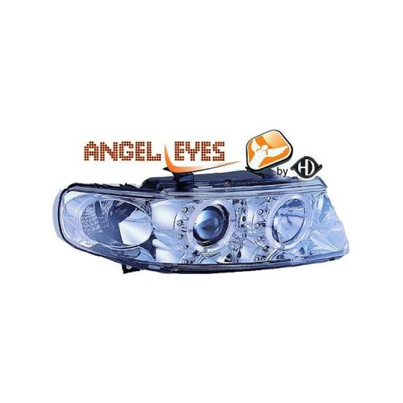 Phares angel eyes chrome Seat LEON/TOLEDO 99-05
