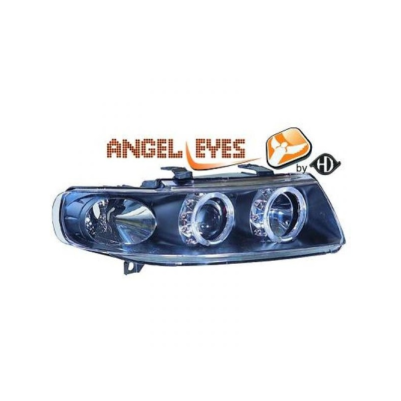 Phares angel eyes noir Seat LEON/TOLEDO 99-05
