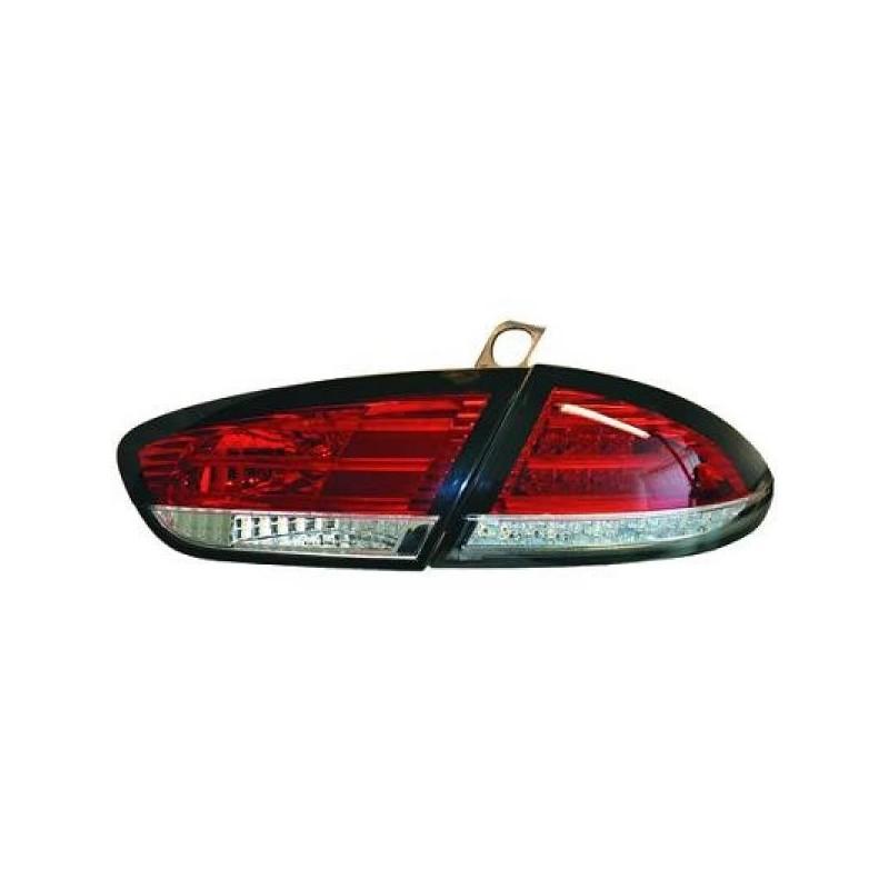 Feux arriere Seat LEON apres 2009 LED cristal/rouge-blanc