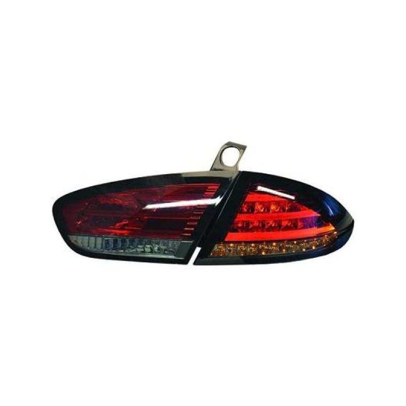 Feux arriere Seat LEON apres 2009 LED cristal/rouge-noir