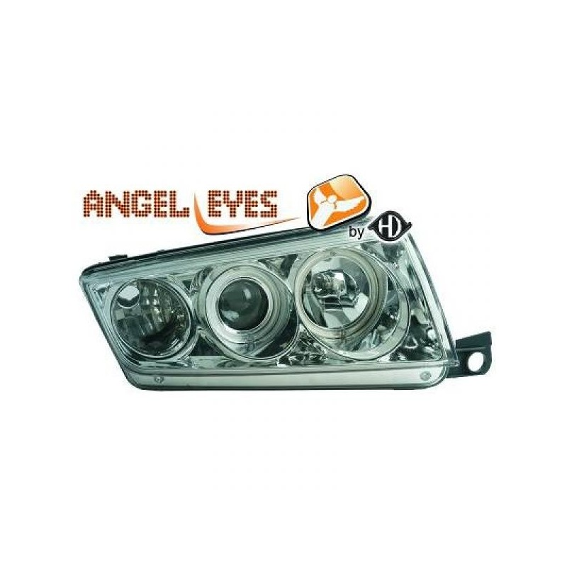 Phares angel eyes chrome Skoda FABIA 99-07