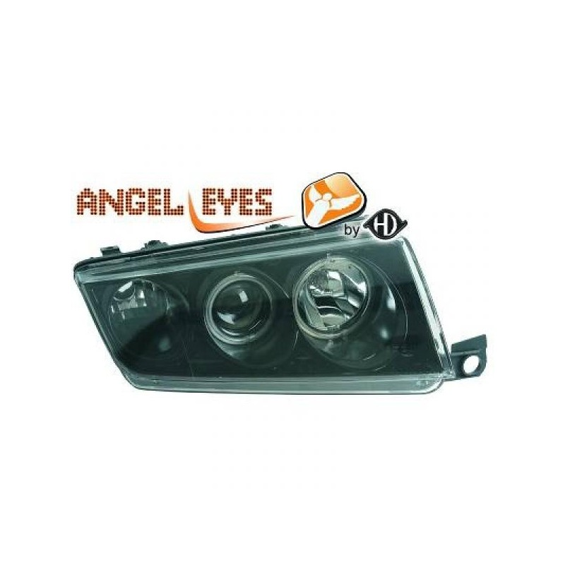 Phares angel eyes noir Skoda FABIA 99-07