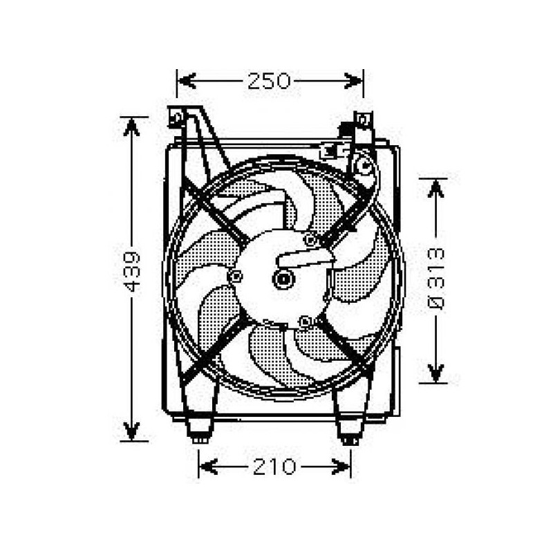 Motoventilateur suppl. complet HYUNDAI ELANTRA 2000 à 2006