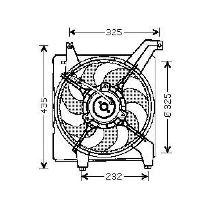 Motoventilateur complet HYUNDAI ELANTRA 2000 à 2006