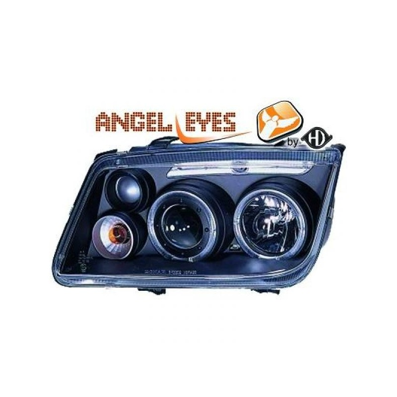 Phares angel eyes noir Vw BORA 98-05