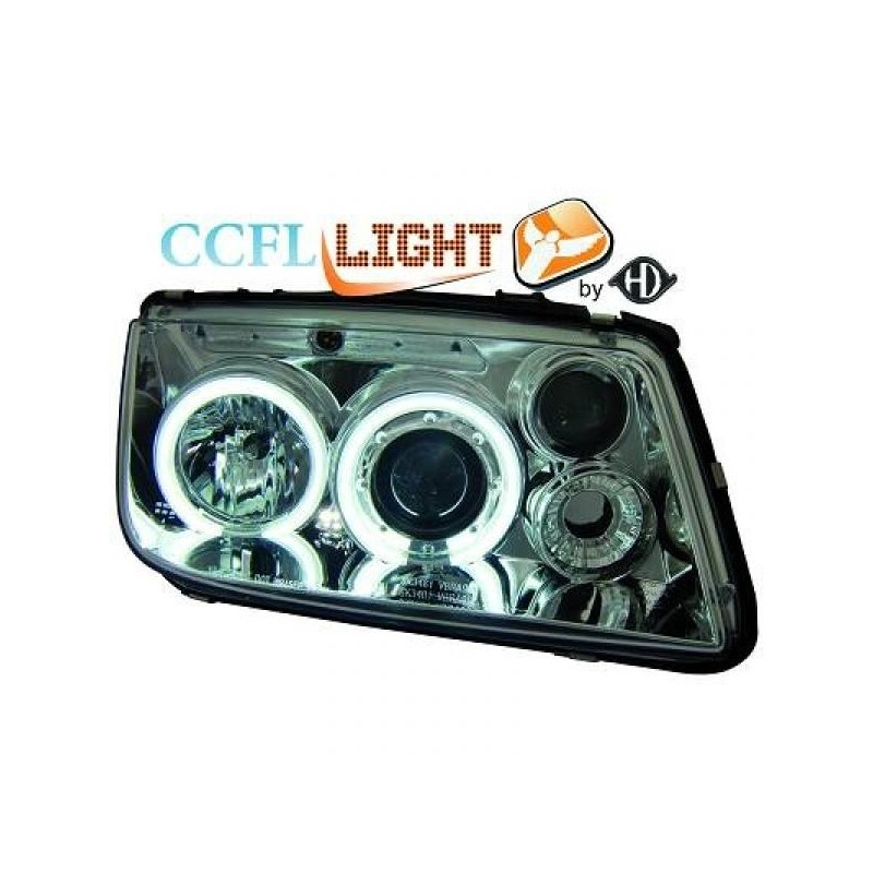 Phares angel eyes CCFL chrome Vw BORA 98-05