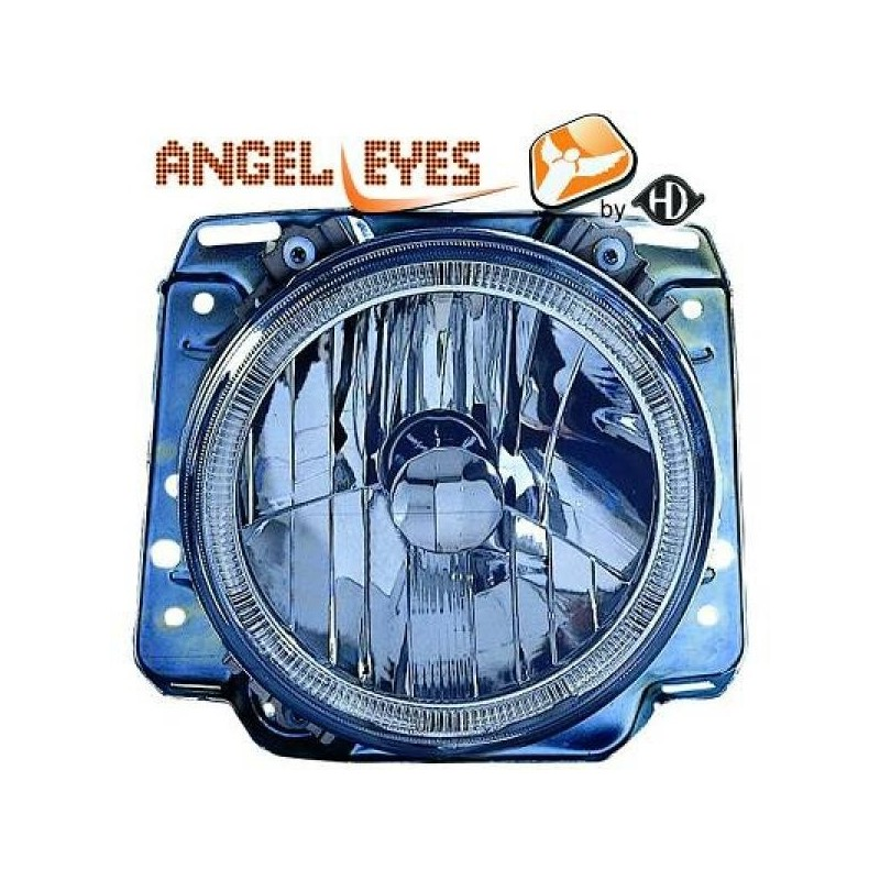 Phares angel eyes chrome Vw GOLF 83-91