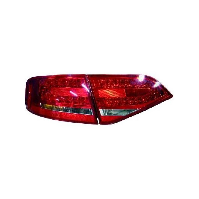Feux arrières rouge/blanc LED Audi A4 apres 2007 pour Berline