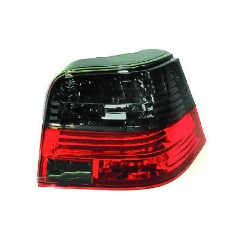 Feux arrières rouge/noir Vw GOLF 4-portes 97-03
