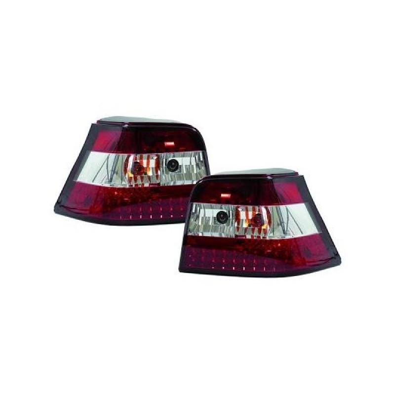 Feux arrières LED rouge-blanc Vw GOLF 4 - Berline 97-03