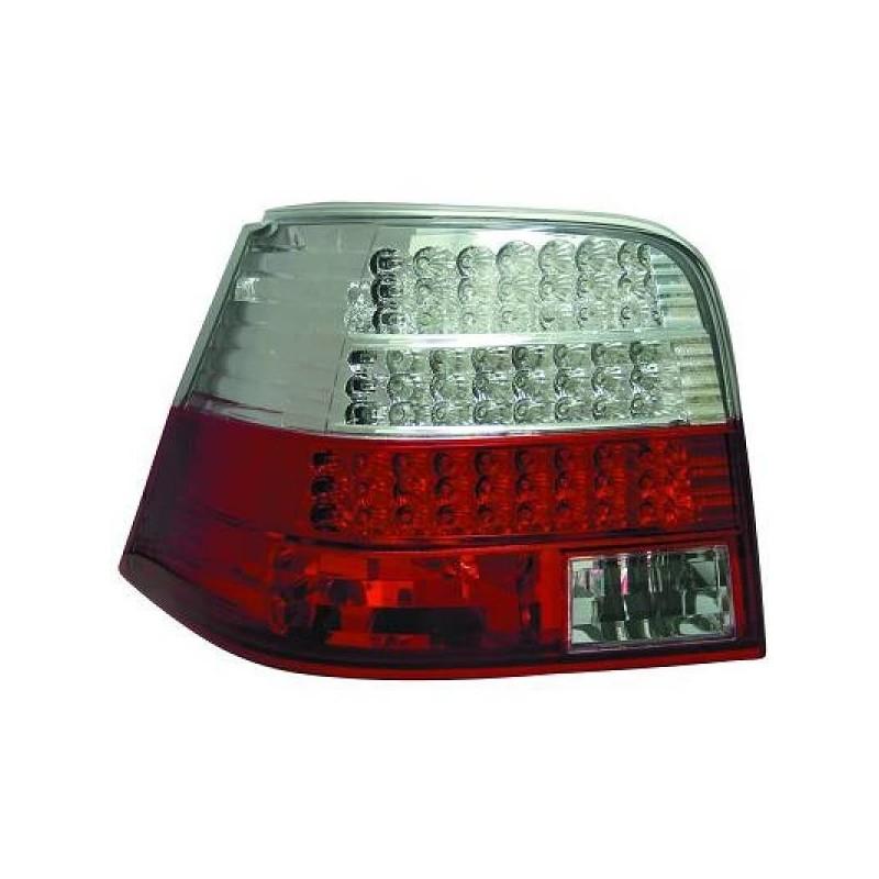 Feux arrières rouge/blanc LED Vw GOLF 4 3/5-portes 97-03