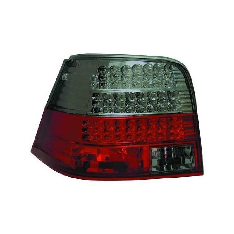 Feux arrières rouge/noir LED Vw GOLF 4 3/5-portes 97-03