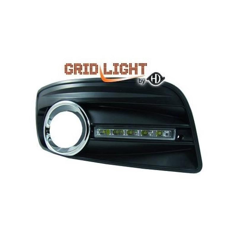 Feux de jour diurnes avec grilles pour anti-br. VW Golf 5 Gti 03-08