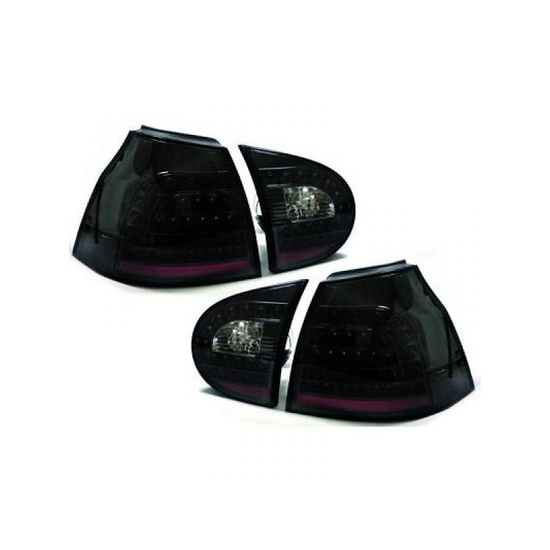 Feux arrières LED noir Vw GOLF 5 apres 2003