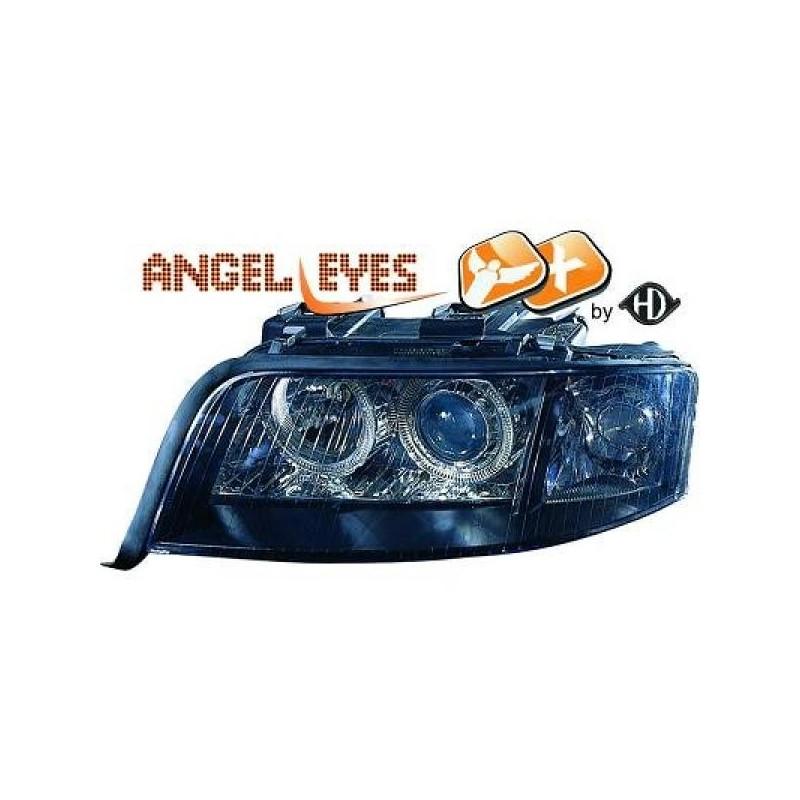 Phares angel eyes XENON noir Audi A6 01-04