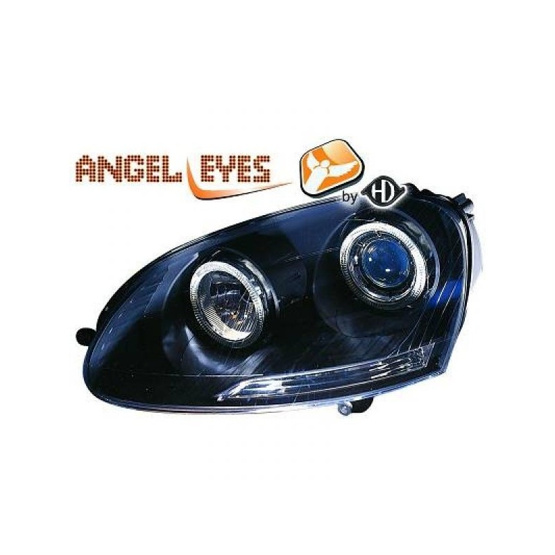 Phares angel eyes noir Vw GOLF apres 2003