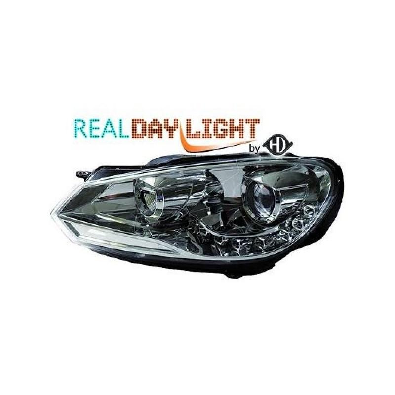 phares DEVIL EYES LED Vw GOLF 6 08-12 cristal/chrome