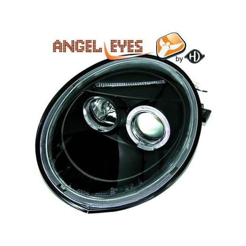 Phares angel eyes noir Vw NEW BEETLE apres 1998