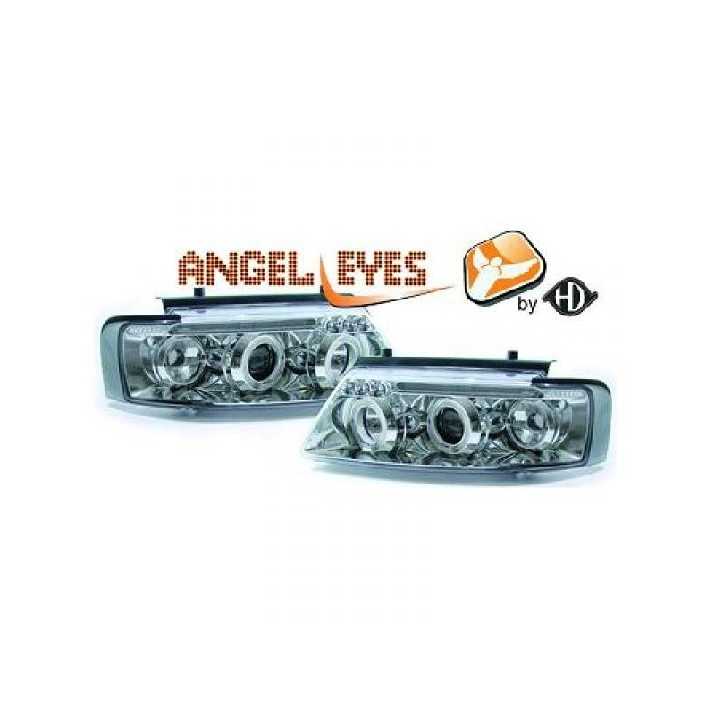 Phares angel eyes chrome Vw PASSAT 96-00