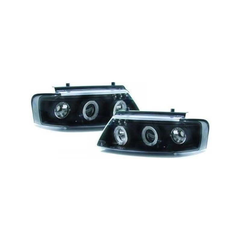 Phares angel eyes noir Vw PASSAT 96-00