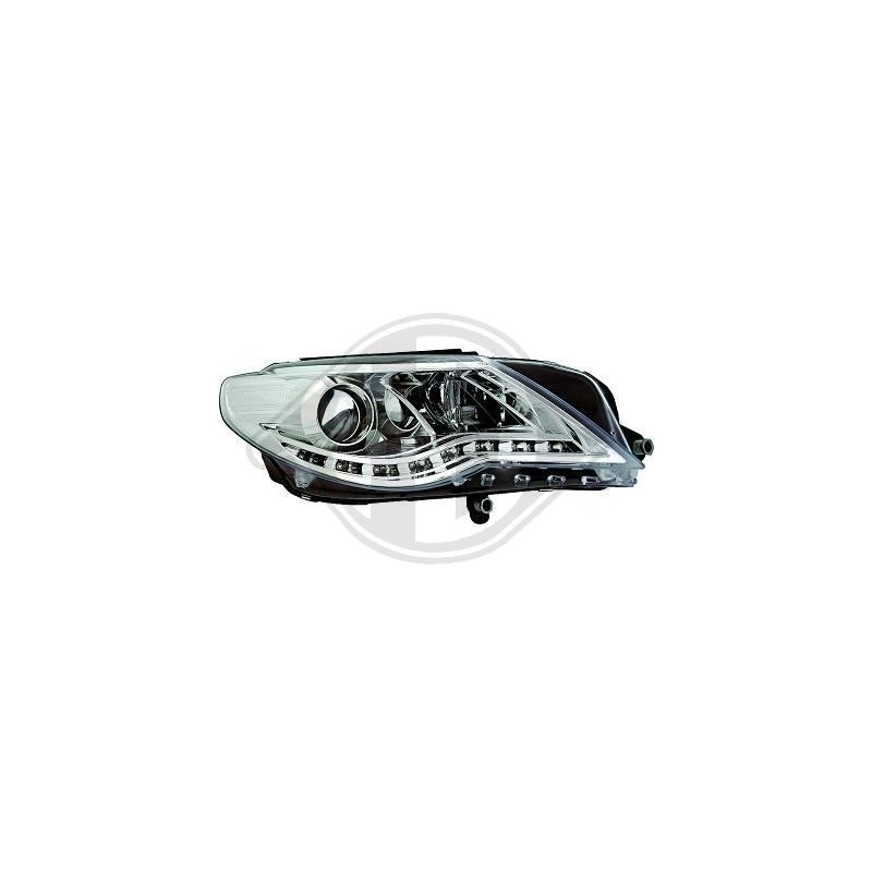 Phares devil eyes LED Vw Passat CC 08-12 cristal/chrome