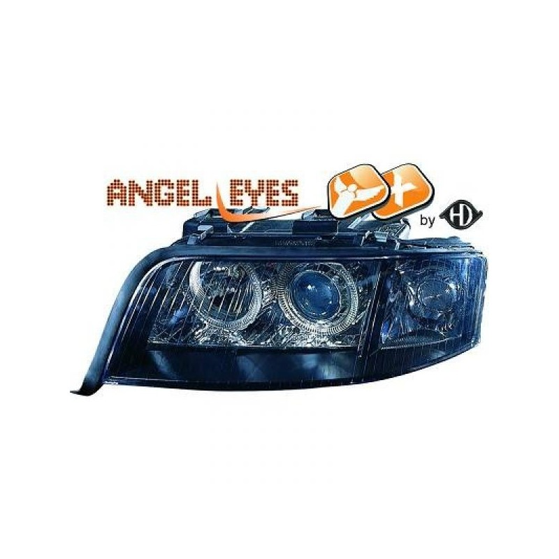 Phares angel eyes XENON noir Audi A6 97-01