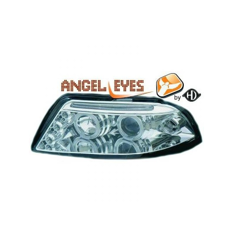 Phares angel eyes chrome Vw Passat Lim./Kombi 00-05