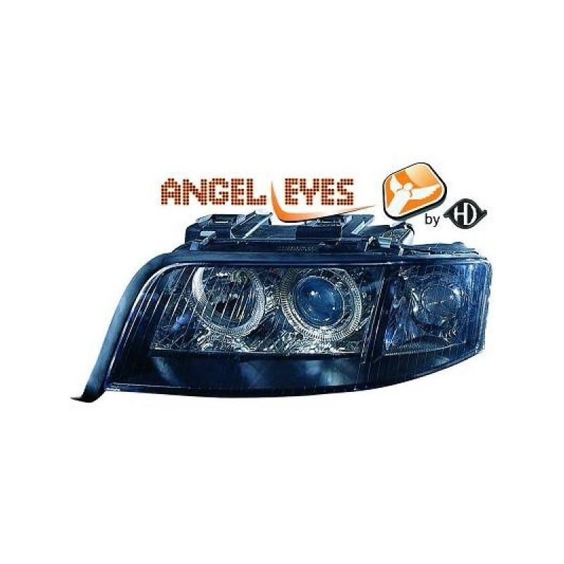 Phares angel eyes noir Audi A6 97-01