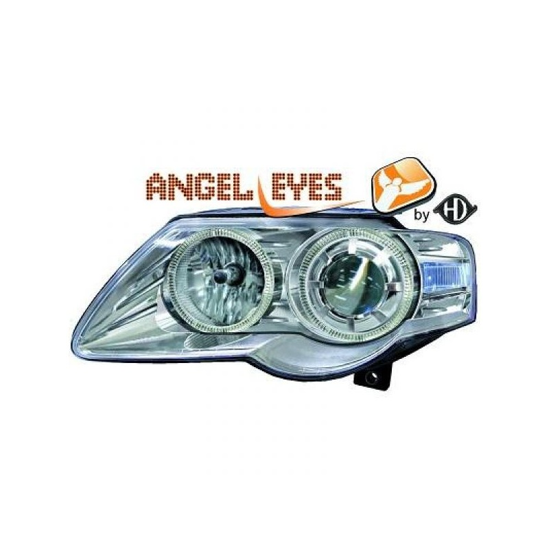 Phares angel eyes chrome Vw PASSAT apres 2005