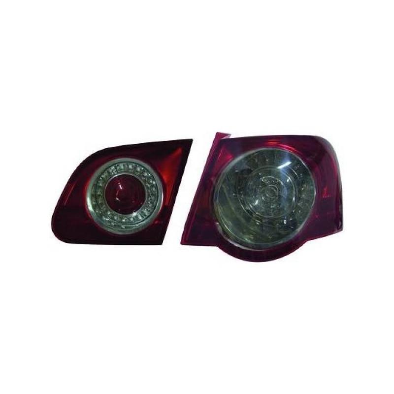 Feux arrière Vw PASSAT 05-10 Berline LED cristal/rouge-fumé
