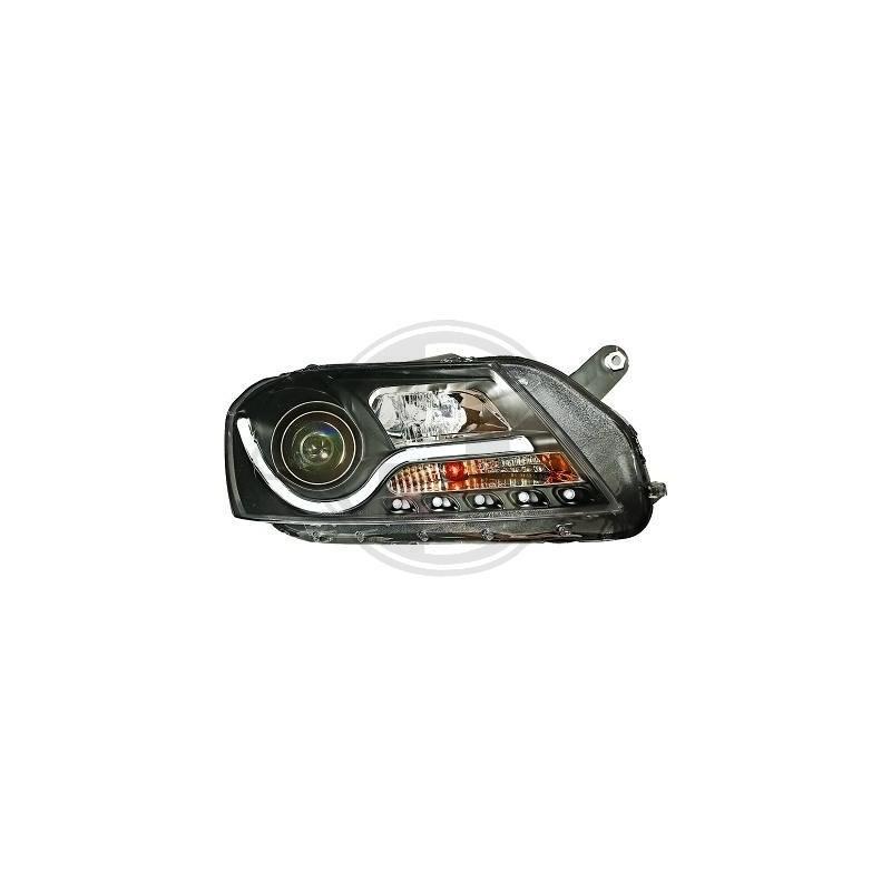 Phares a tube LED noir Vw Passat apres 2010